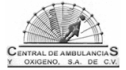 Logotipo de Ambulancias, Central de Enfermeras y Oxigeno